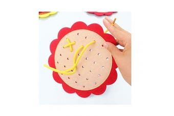 Auch 4Pcs String Threading Lacing Toys Early Learning Educational Stringing Toys Kids Baby Puzzle