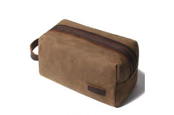 Shaving bag Dopp kit Leather Toiletry Bag for Men - Overnight bag Hanging Canvas Travel Size Toiletries