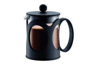 (4 Cup) - Bodum 10683-01 Kenya French Press Coffee Maker, Borosilicate Glass - 4-Cup (0.5 L), Black
