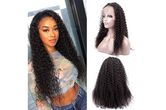 (25cm ) - Lace Front Wigs Human Hair Pre Plucked, 150% Density Brazilian Kinky Curly Lace Frontal Wigs Human Hair with Baby Hair for Black Women