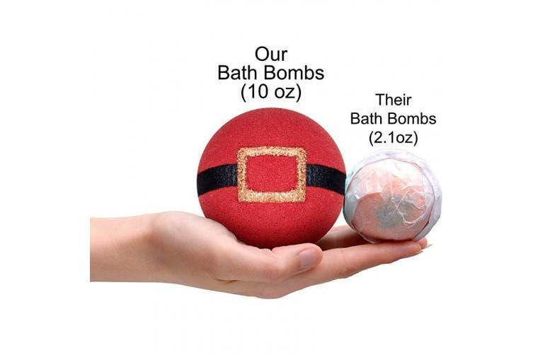 (Size 8) - Bath Bomb with Surprise Jewellery Inside Handmade Xmas Christmas Gift Idea Santa Bath Bombs with Ring Inside Size 8 Bath Bombs for Women Bath Bombs for Girls