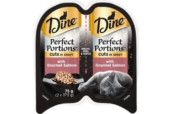 Dine Perfect Portions Cuts in Gravy with Gourmet Salmon 75g