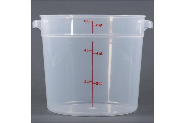 Cambro RFS6PP190 Polypropylene Round Food Storage Container, 5.7l, Translucent