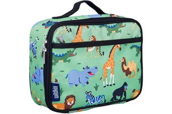 (Wild Animals) - Wildkin Insulated Lunch Box for Boys and Girls, Perfect Size for Packing Hot or Cold Snacks for School and Travel, Mom's Choice Award Winner, BPA-free, Olive Kids (Wild Animals)