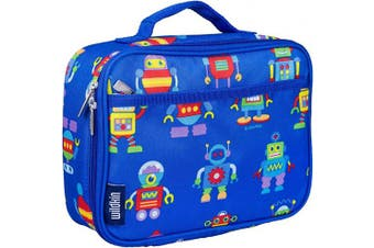 (Robots) - Wildkin Insulated Lunch Box for Boys and Girls, Perfect Size for Packing Hot or Cold Snacks for School and Travel, Mom's Choice Award Winner, BPA-free, Olive Kids (Robots)