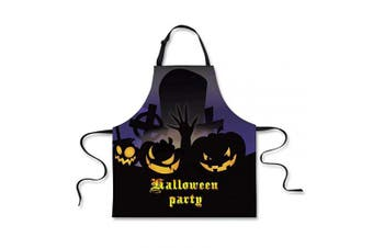 (Halloween Aprons 4) - Advocator Halloween Apron Kitchen Bib with Adjustable Neck Aprons for Grilling,Cleaning,Cooking,Birthday Gift for Wife,Girlfriend,Husband,Boyfriend