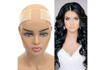 Lace Wig Grip Headband Comfort Soft Non-slip Flexible Velvet Head Hair Band Adjustable Fastern Tape For Lace Wigs Beige