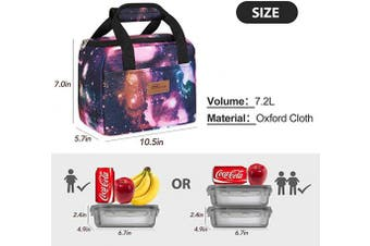 (starry sky) - HOMESPON Insulated Lunch Bag Lunch Box Cooler Tote Box Cooler Bag Lunch Container for Women/Men/Children/School/Work/Picnic,starry sky