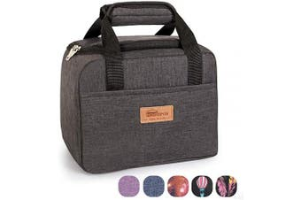 (Dark Gray) - HOMESPON Insulated Lunch Bag Lunch Box Cooler Tote Box Cooler Bag Lunch Container for Women/Men/Children/School/Work/Picnic,dark grey