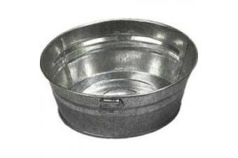 (20cm ) - American Metalcraft MTUB83 Natural Galvanised Tub with Side Handle, 20cm