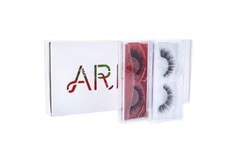 (White) - Arison Lashes 3D False Eyelashes Fake Eyelashes Multipack 8 Different Types Combination Gift Box for Make Up (White)