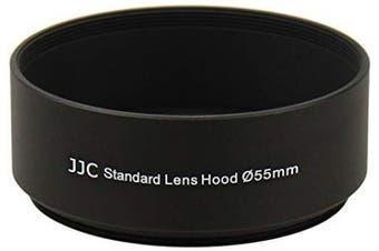 Screw-on Camera Metal Lens Hood Sun Shade for 55mm Thread Lenses for Nikon AF-P DX Nikkor 18-55mm f/3.5-5.6G Sony 85mm f/2.8 Alpha A-Mount Standard Prime Lens