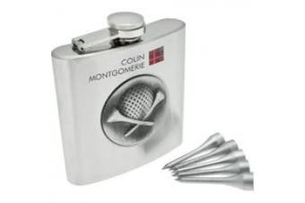 (Gift) - Colin Montgomerie Golfers Unisex Hip Flask CMGGHFD
