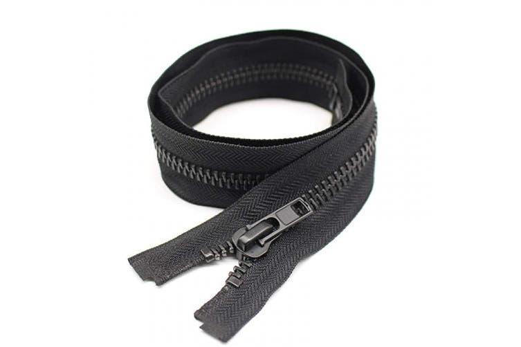 (100cm ) - YaHoGa #10 100cm Black Nickel Separating Jacket Zipper Large Y-Teeth Metal Zipper Heavy Duty Metal Zippers for Jackets Sewing Coats Crafts (100cm Nickel)