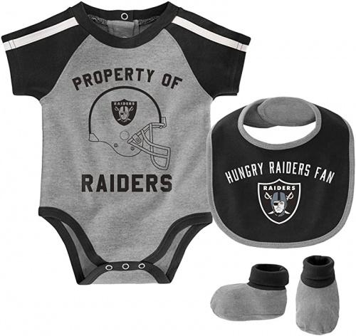 Outerstuff NFL Newborn Infants Tackle Creeper Bib Bootie Bodysuit Set