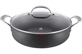 (30 cm, Shallow Fry Pan) - Tefal Jamie Oliver Hard Anodised Premium Series Shallow Frypan - 30cm, Black