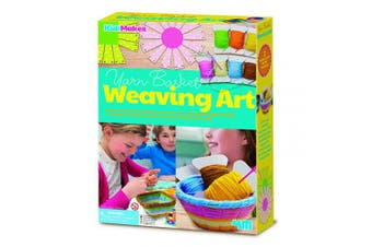 4M 404757 KidzMaker Basket Weaving Art, Multi Colour