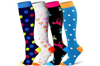 (L/XL(US Women8-15.5/US Men8-14), Assort12) - Compression Socks for Women and Men - Best Athletic,Circulation & Recovery