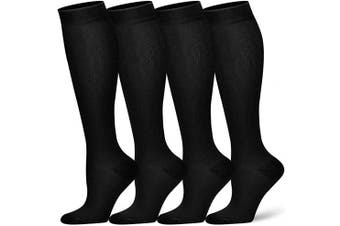 (S/M(US Women5.5-8.5/US Men5-9), Black) - Compression Socks for Women and Men - Best Athletic,Circulation & Recovery