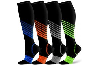 (S/M(US Women5.5-8.5/US Men5-9), Assort9) - Compression Socks for Women and Men - Best Athletic,Circulation & Recovery