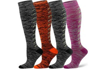 (L/XL(US Women8-15.5/US Men8-14), Assort8) - Compression Socks for Women and Men - Best Athletic,Circulation & Recovery