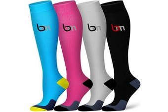 (L/XL(US Women8-15.5/US Men8-14), Assort5) - Compression Socks for Women and Men - Best Athletic,Circulation & Recovery