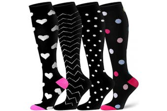 (S/M(US Women5.5-8.5/US Men5-9), Assort3) - Compression Socks for Women and Men - Best Athletic,Circulation & Recovery