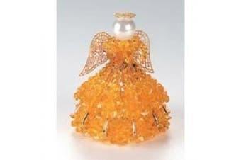 Birthstone Angel Ornament Bead Kit - November Topaz