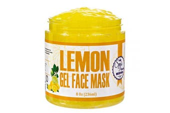 Spa's Premium Illuminating Lemon Gel Face Mask with antioxidants and vitamins, Fights Acne, Anti-ageing, exfoliating, oil control mask, for Oily and Normal Skin types