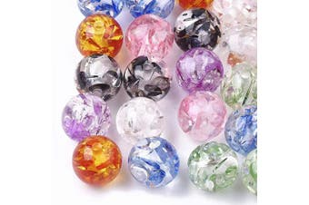 (6mm, Colorful Resin Amber) - Craftdady 100pcs Resin Round Ball Beads 6mm Colourful Imitation Amber Spacer Loose Beads with 1mm Hole