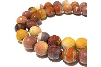(Rainbow Mookaite (From Western Australia)) - [ABCgems] Australian Rainbow Mookaite (Beautiful Colour- Grade AA) 12mm Faceted Round Beads for Jewellery Making