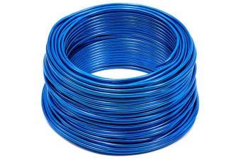 Bright Creations Aluminium Wire for DIY Crafts, 31m, 12 Gauge, Dark Blue