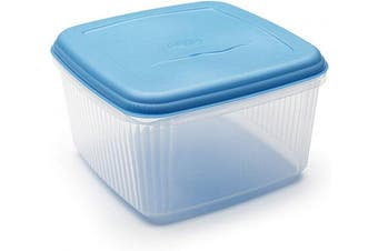 (1, Clear and Blue) - ADDIS 10 Litre Square Foodsaver, (colour may vary)