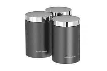 (Titanium) - Morphy Richards Accents Kitchen Storage Canisters, Stainless Steel, Titanium, Set of 3