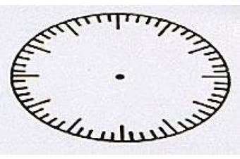 Large Clock With Seconds: Time Teaching Aid Rubber Stamper