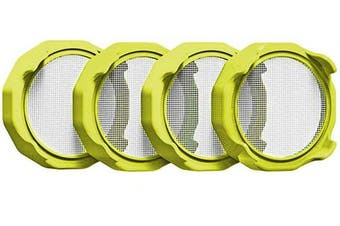 Coobbar 4 Pcs Sprouting lids with Stainless Steel Screen for Wide Mouth Mason Jars, Jars for Making Organic Sprout Seeds