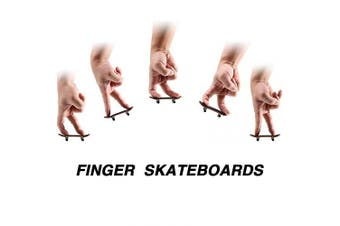 Gejoy 4 Pieces Mini Fingerboards Wooden Skateboard Finger Skateboard Wooden Finger Board Creative Fingertips Movement Party Favours