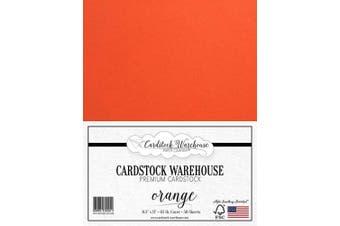 (Orange) - Orange Cardstock Paper - 22cm x 28cm - 29kg. - 50 Sheets Premium Cover from Cardstock Warehouse
