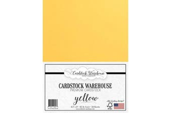 (Yellow) - Yellow Cardstock Paper - 22cm x 28cm - 29kg. - 50 Sheets Premium Cover from Cardstock Warehouse