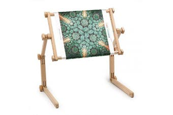 """(35cm  x 48cm ) - Needlework Table and Lap Hands-Free Stand with Adjustable Frame Made of Organic Beech Wood Tapestry Cross Stitch Embroidery Frame Holder (35х48 cm (13.7"""" x 18.8""""))"""