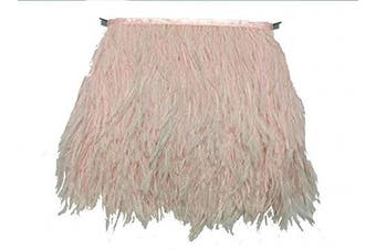 (pale-pink) - ADAMAI Natural Ostrich Feathers Trims Fringe DIY Dress Sewing Crafts Costumes Decoration Pack of 10 Yards (Pale-Pink)
