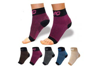 (S (Women 4-6.5 / Men 3-5.5), Black/Red) - Plantar Fasciitis Socks with Arch Support for Men & Women - Best Compression Socks Foot Sleeve for Aching Feet & Heel Pain Relief