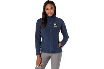 (Notre Dame Fighting Irish, Small, Nd - Collegiate Navy) - NCAA Womens Collegiate Give and Go Ii Full Zip Fleece Jacket