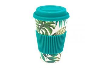 (470ml, Polynesia) - Cambridge CM05918 Bamboo Polynesia Reusable Coffee Cup Travel Mug