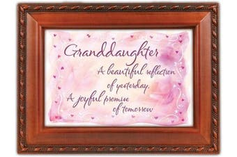 Granddaughter Reflection Woodgrain Cottage Garden Traditional Music Box Plays You are my Sunshine