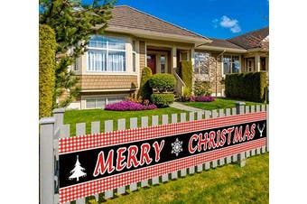 (Merry Christmas-r) - Colormoon Extra Large Merry Christmas Banner, Xmas Banner, Be Merry Sign, Christmas Party Supplies Decoration, Indoor Outdoor (3m x 0.5m)