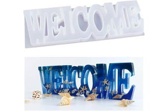 LET'S RESIN Welcome Mould, Silicone Resin Moulds, Epoxy Resin Moulds for Desk/Table/Room Decoration, Ideal Gift for Friends