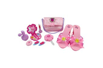 Little Princess Fasion Beauty Set for Girls with Pink Purse, Shoes & Accessories