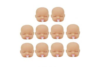 Artibetter 10pcs Silicone Baby Doll Head for Artist Hand Painting Doll Body Part DIY Replacement Keychain