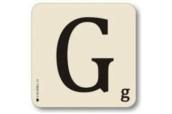 (G) - Bluebell Alphabet Coasters - Personalise Table Family Names Words (G)